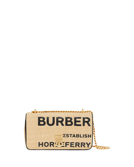 Burberry Lola TB Graphic Raffia Crossbody Bag