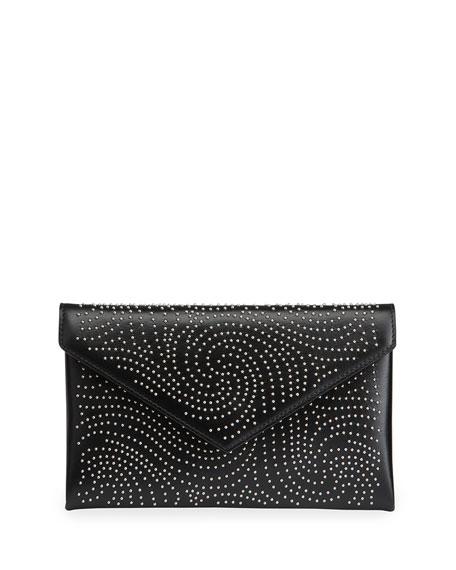 ALAIA OUM 20 Studded Leather Envelop Clutch Bag
