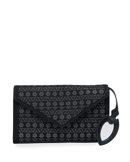 ALAIA Oum Studded Envelope Clutch Bag
