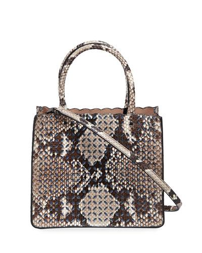 Garance 16 Small Python Tote Bag