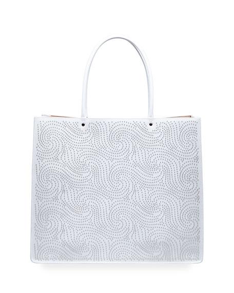 ALAIA Garance 36 Medium Studded Tote Bag