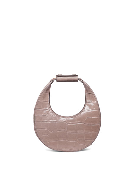 Staud Moon Mini Mock-Croc Shoulder Bag