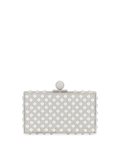 Clara Crystal Embellished Box Clutch Bag