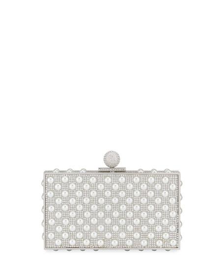 Sophia Webster Clara Crystal Embellished Box Clutch Bag