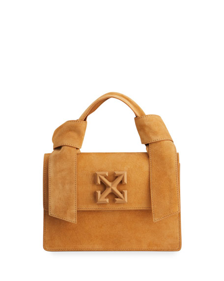 Off-White New Jitney 1.4 Suede Top-Handle Bag