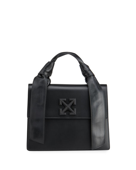Off-White New Jitney 2.8 Leather Top-Handle Bag