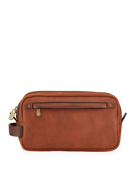 Brunello Cucinelli Men's Leather Beauty Case