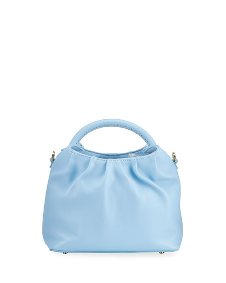 Elleme Dumpling Small Lambskin Top-Handle Bag, Blue
