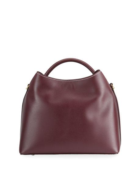 Elleme Raisin Leather Top-Handle Bag