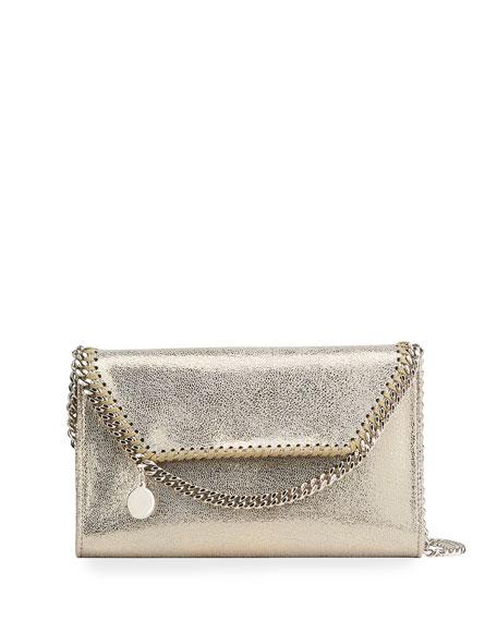 Stella McCartney Falabella Mini Metallic Wallet on Chain