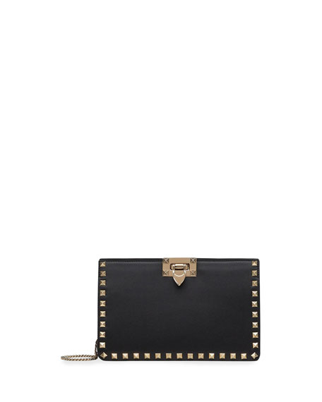 Valentino Garavani Rockstud Leather Clutch Bag