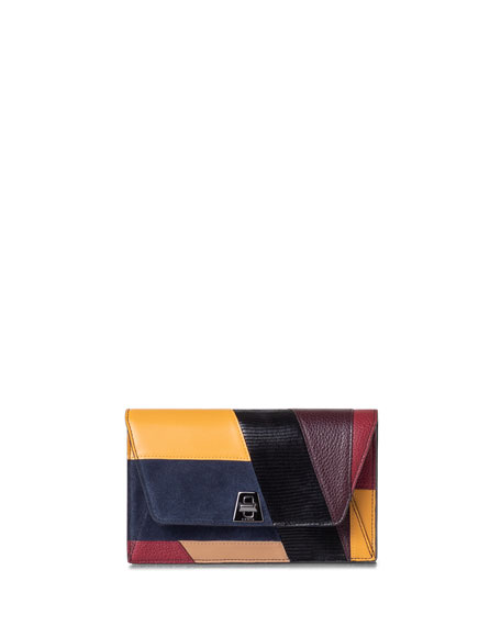 Akris Anouk Orphisme Patchwork Chain Clutch Bag