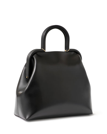 Jil Sander Clover Medium Leather Top-Handle Bag