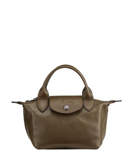 Longchamp Le Pliage Leather Handbag with Strap