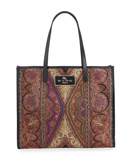 Etro XL Arnica Tapestry Shopping Tote Bag