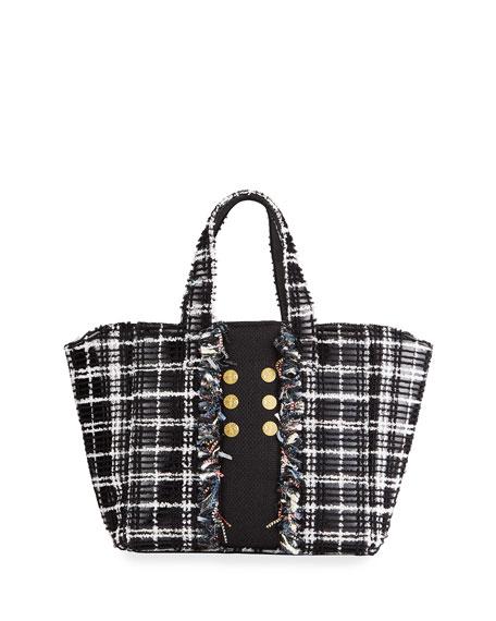 Kooreloo Tweed Book Tote Bag with Coins