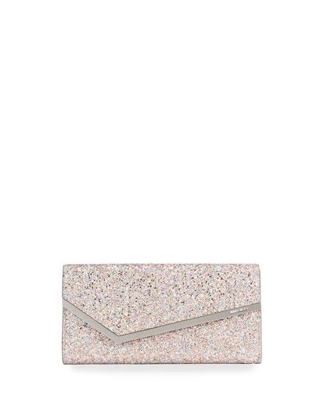 Jimmy Choo Erica Luminous Glitter Fabric Clutch Bag