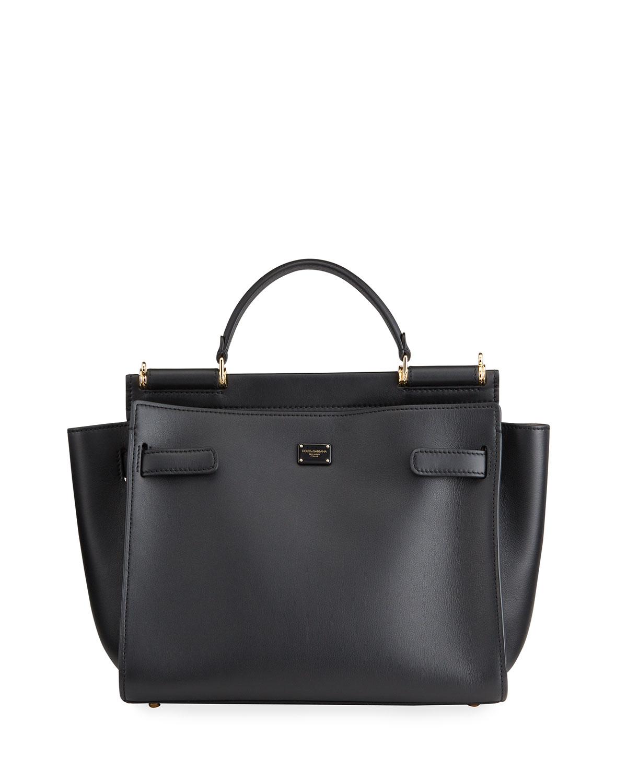 Dolce & Gabbana SICILY MEDIUM LEATHER TOP-HANDLE BAG