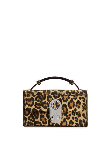 Christian Louboutin Elisa Leopard-Print Satchel Bag