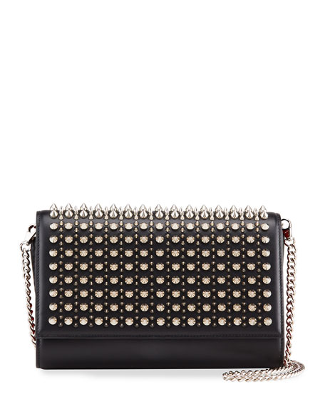 Christian Louboutin Paloma Spike Leather Clutch Bag