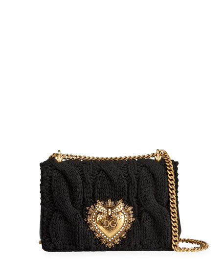 Dolce & Gabbana Knitted Devotion Medium Shoulder Bag