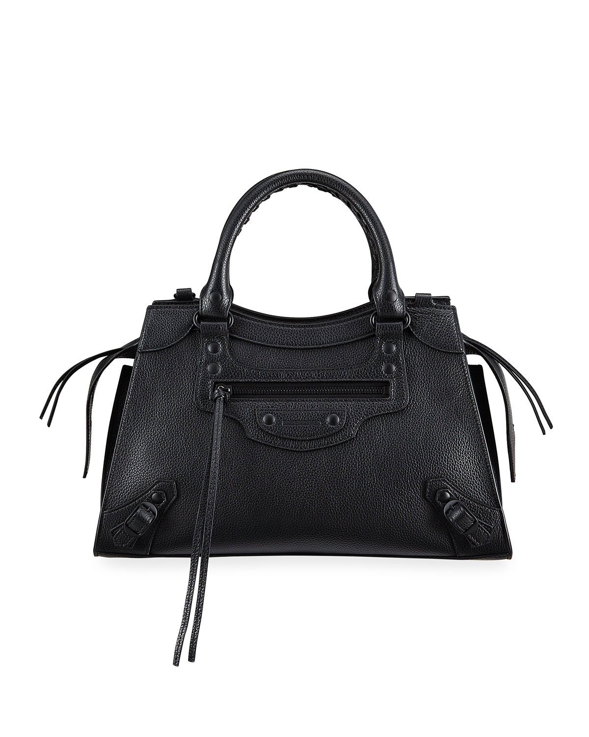 Balenciaga Neo Classic City Small Grained Calf Satchel Bag In 1000 Black