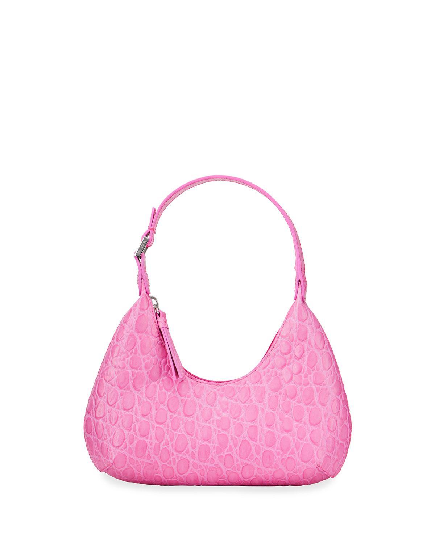 Baby Amber Circular Croco Shoulder Bag