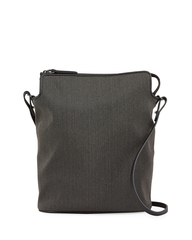 Brunello Cucinelli Bags MONILI LEATHER ZIP BUCKET BAG