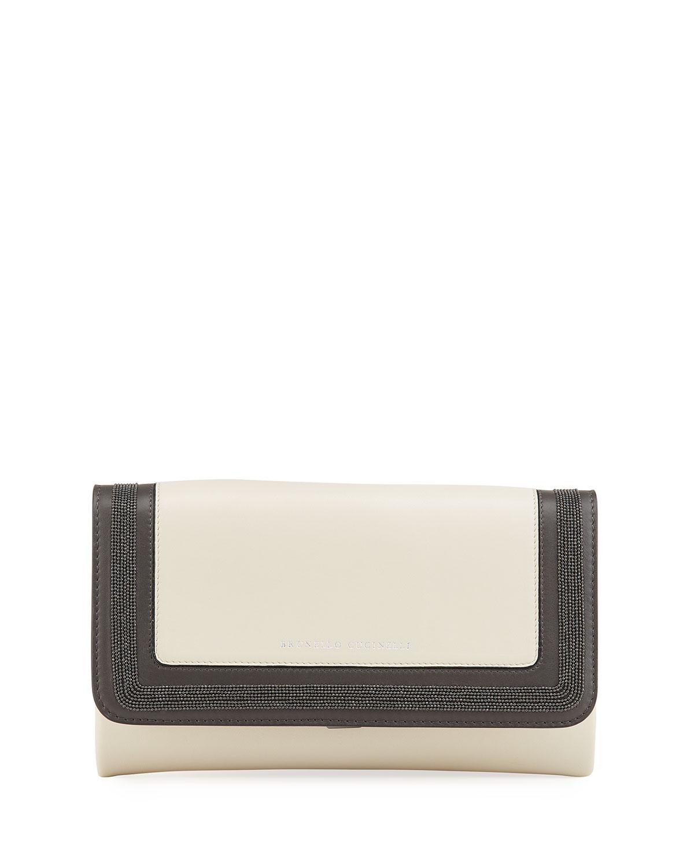 Monili Colorblock Leather Crossbody Bag