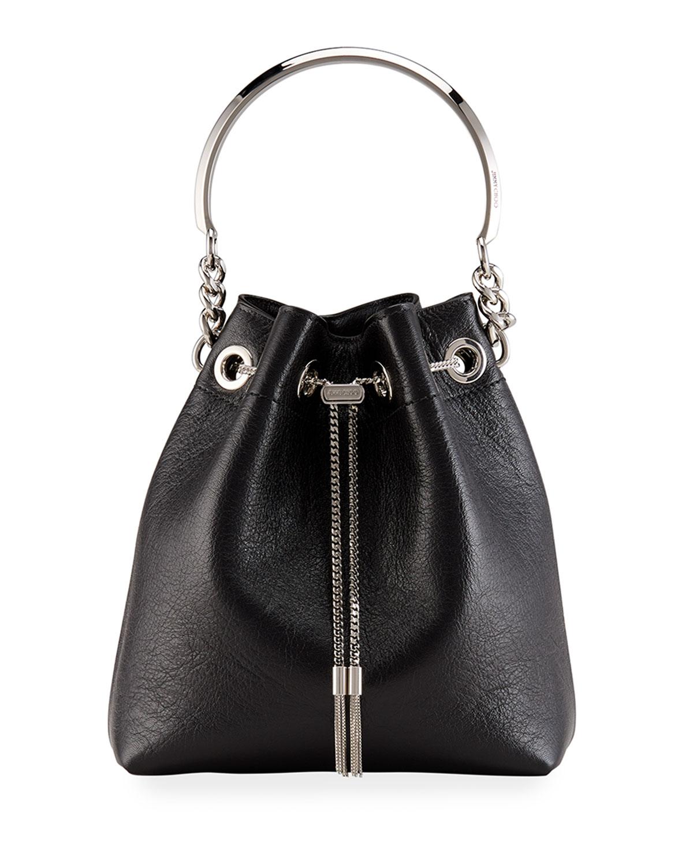Bon Bon Goatskin Drawstring Bucket Bag