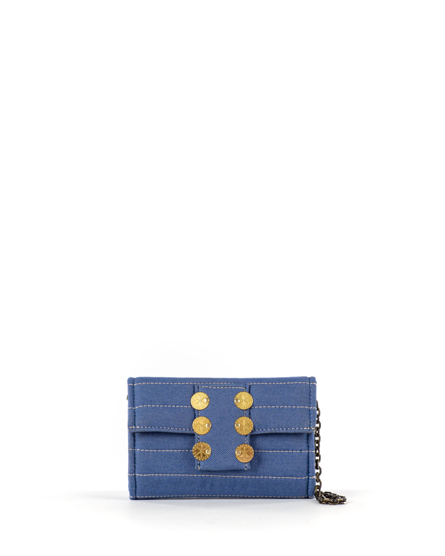 Amalfi Quilted Denim Crossbody Bag