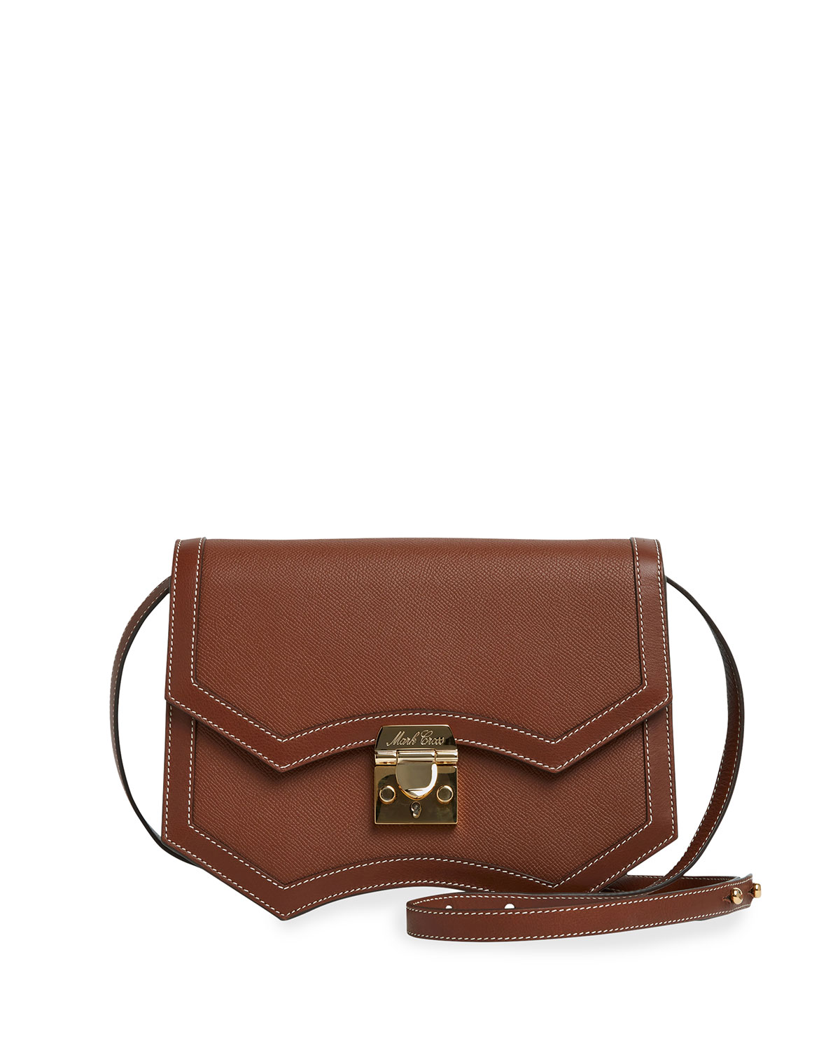 Madeline Structured Leather Crossbody Bag