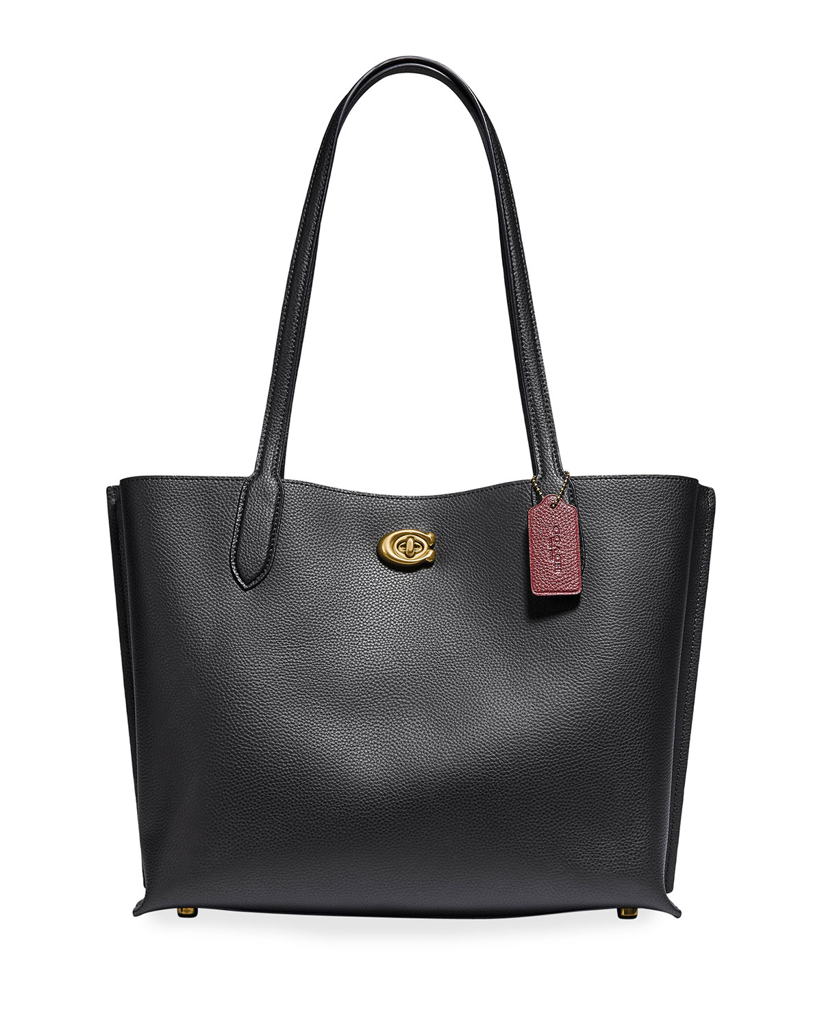 Willow Pebbled Leather East-West Tote Bag