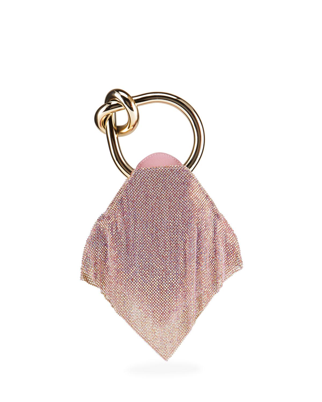 Casper Little Metallic Mesh Top-Handle Bag