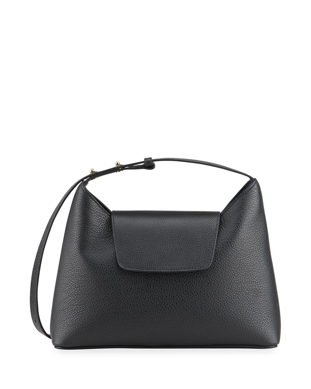 Kitten Pebbled Leather Shoulder Bag