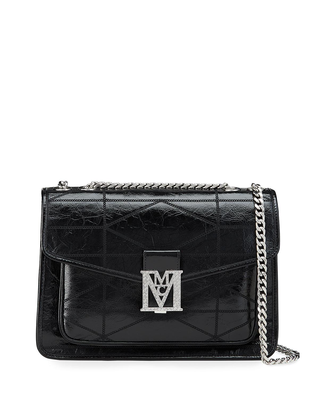 Mena Quilted Shiny Shoulder Bag