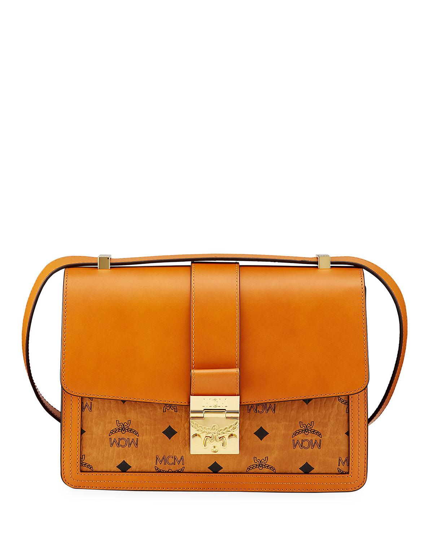 Tracy Visetos Logo Leather Shoulder Bag