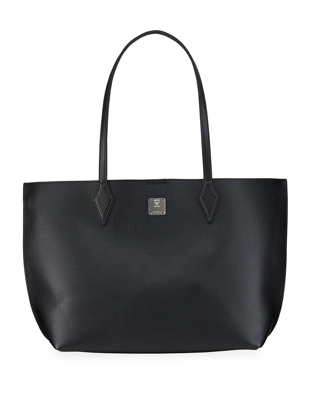 Yris Leather Shopper Tote Bag