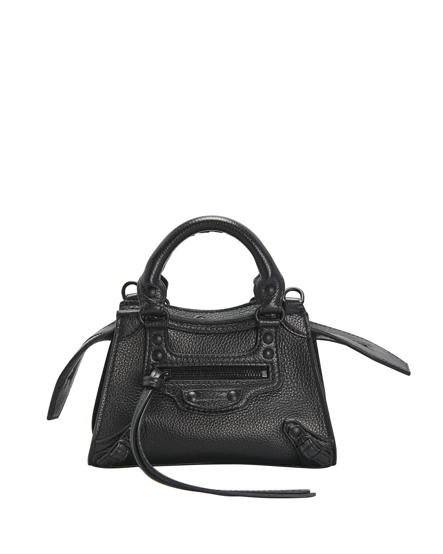 Neo Classic City Mini Pebbled Leather Satchel Bag