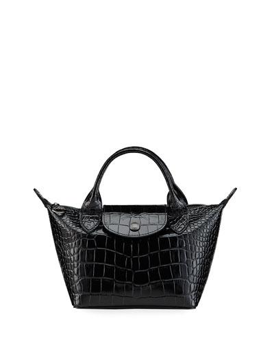 Longchamp Embossed Imported Bag | Neiman Marcus