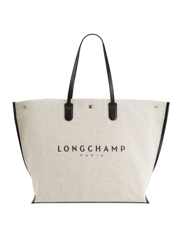 Longchamp ESSENTIAL TOILE LARGE SHOPPER TOTE BAG