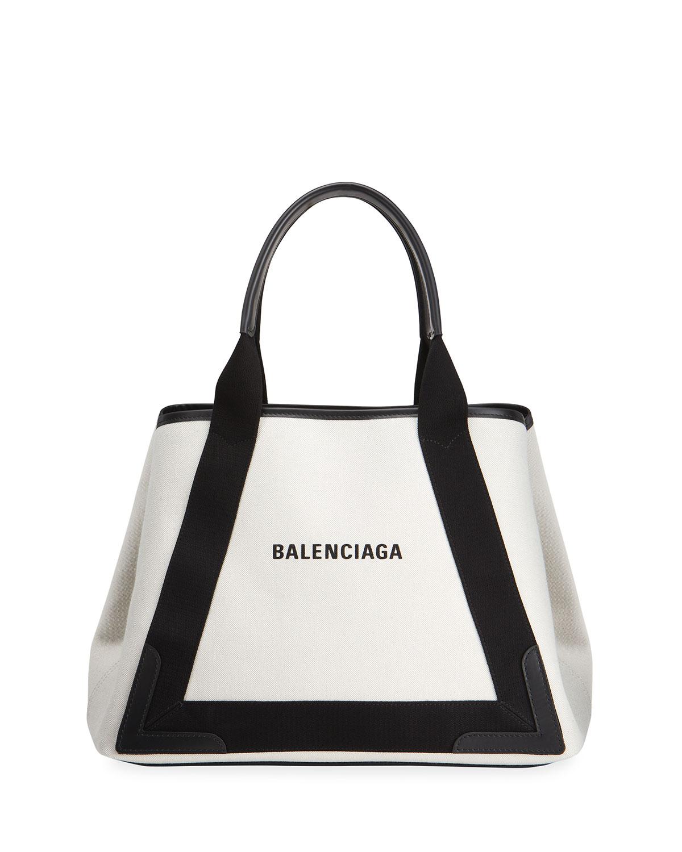 Balenciaga CABAS LOGO CANVAS & LEATHER TOTE BAG