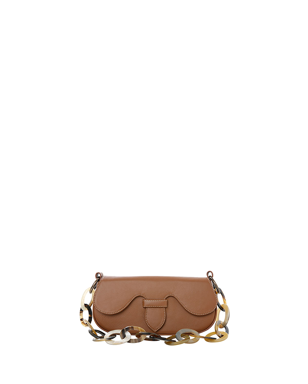 Alicia Mini Leather Clutch Shoulder Bag