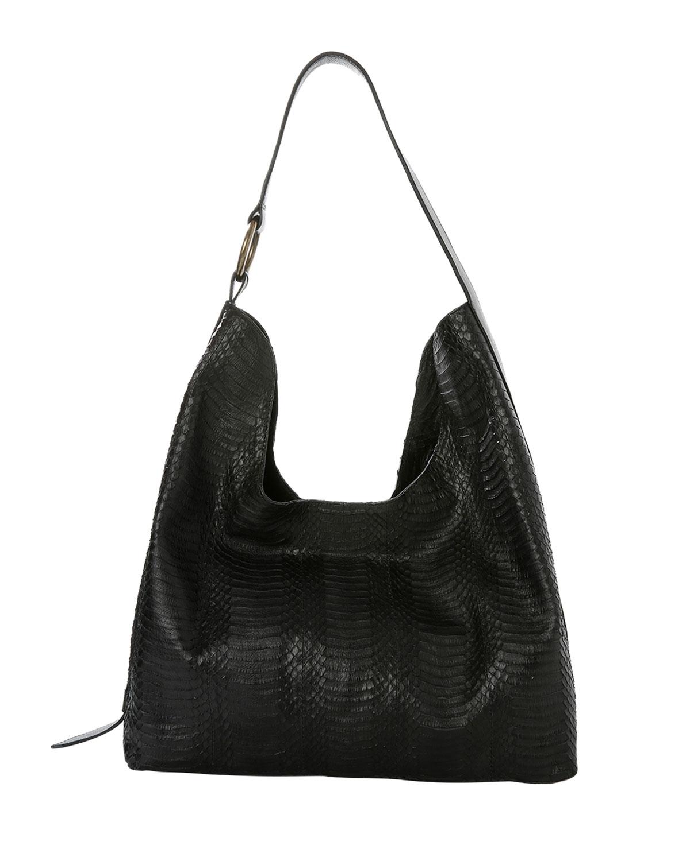 Tachia Snakeskin Hobo Shoulder Bag