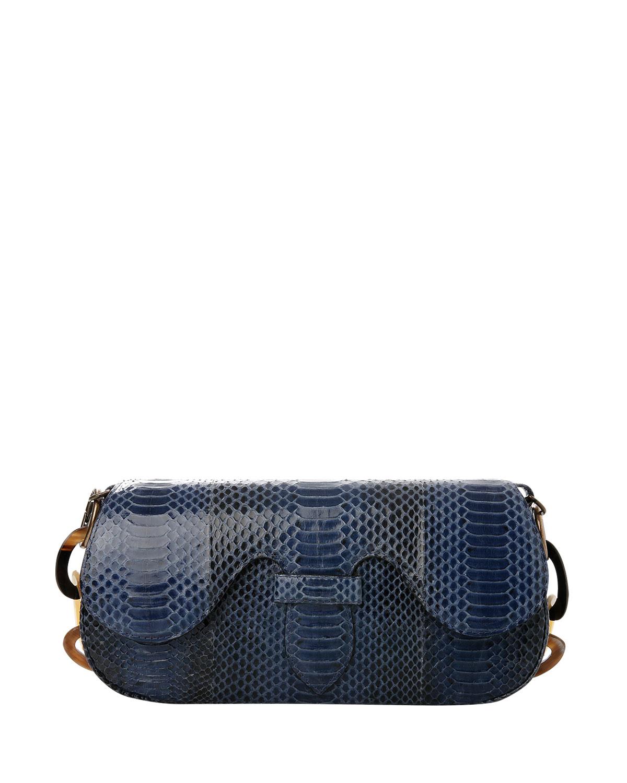 Alicia Snakeskin Clutch Shoulder Bag