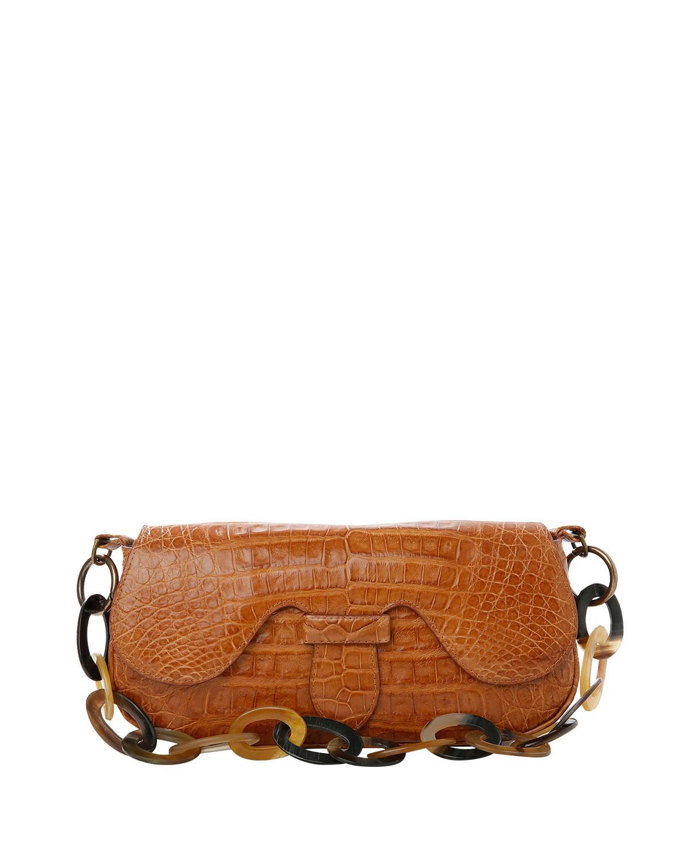 Alicia Crocodile Shoulder Bag