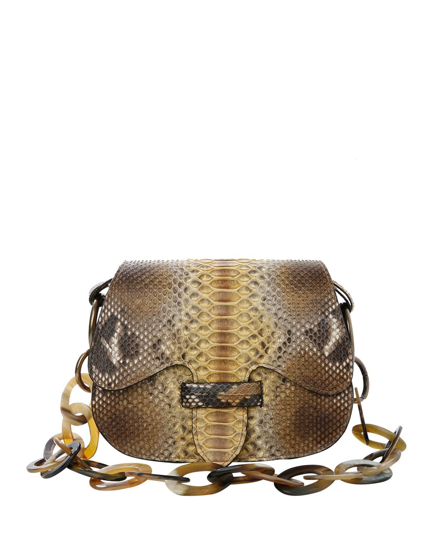 Monsieur Python Saddle Shoulder Bag