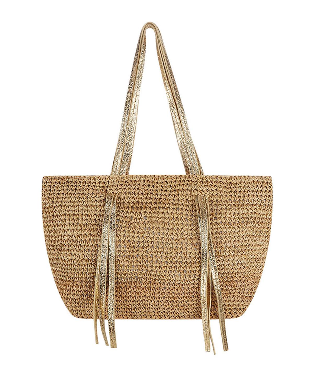 Indore Large Crochet Raffia Shoulder Tote Bag
