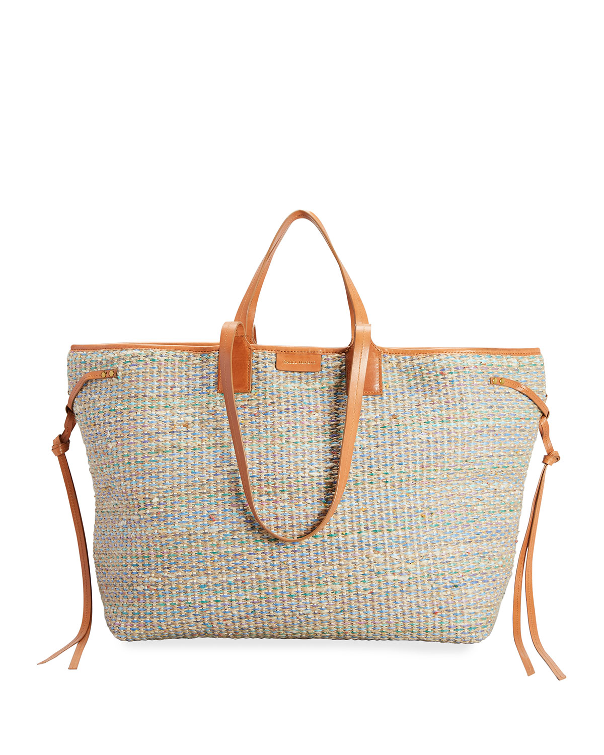 Isabel Marant WYDRA MULTICOLOR JUTE SHOPPER TOTE BAG