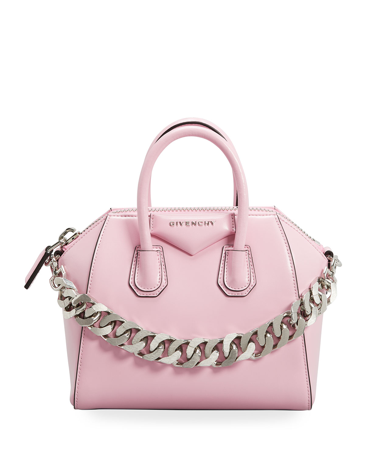 Givenchy Leathers MINI ANTIGONA BAG IN BOX LEATHER WITH CHAIN